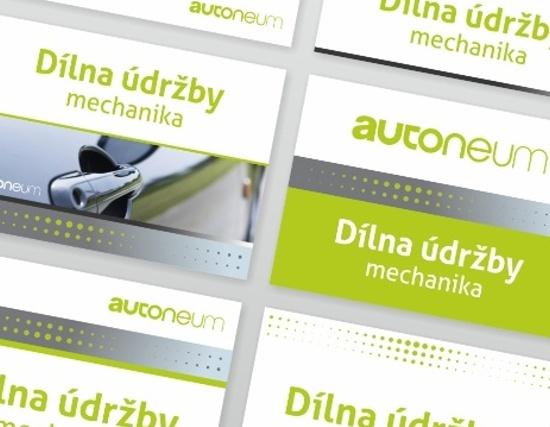 Autoneum - štítky