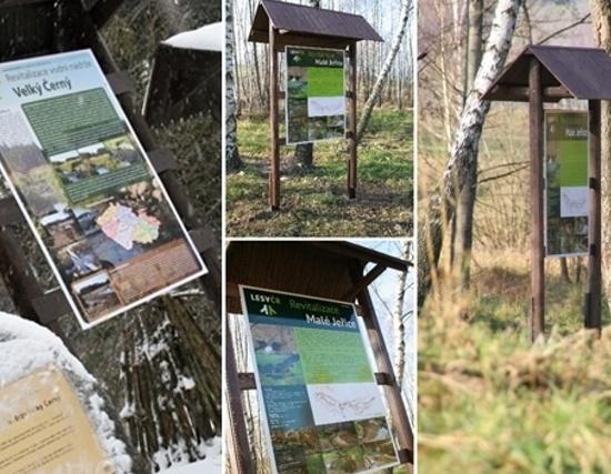 Informační cedule - Lesy ČR