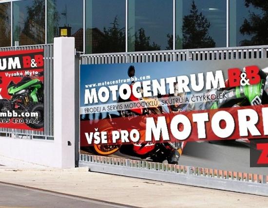 Reklamní plachta/banner - Motocentrum B&B
