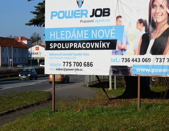 Reklamní plachta/banner - Powerjob