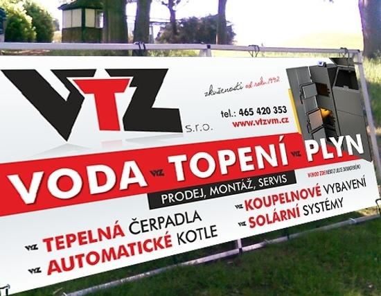 Reklamní plachta/banner - VTZ